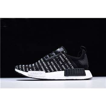 New Adidas NMD R1 Brand With The Three Stripes Core Black/FTWR White S76519