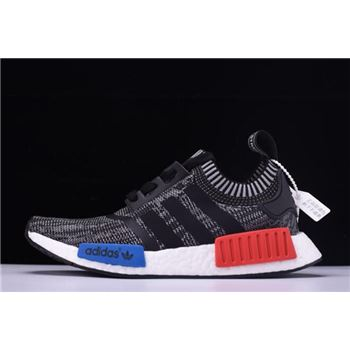 "New Adidas NMD R1 Primeknit ""Friends and Family"" Grey/Red/White-Blue N00001"