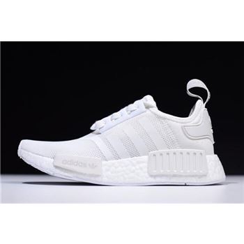 New Adidas NMD R1 Primeknit White Black CQ2411 On Sale