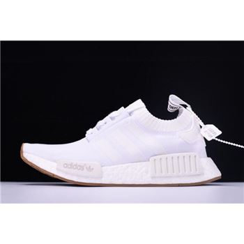 "New Adidas NMD R1 Primeknit ""White Gum"" BY1888"