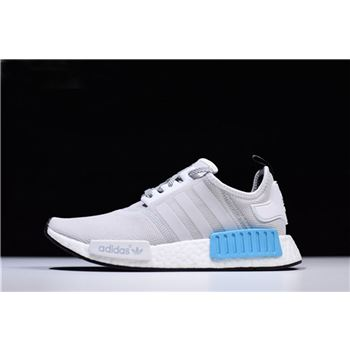 New Adidas NMD R1 Runner Light Grey/White-Blue Men's and Women's Shoes S31511