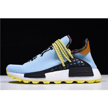 "Pharrell Williams x Adidas Hu NMD ""Inspiration"" Blue/Yellow-Black BB9533"