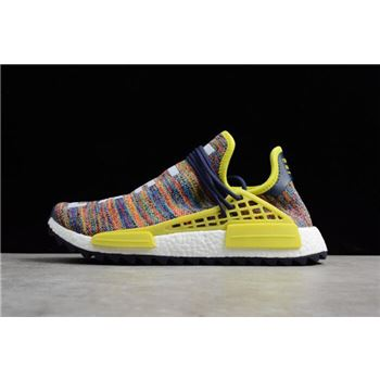 "Pharrell x Adidas NMD Hu Trail ""Multicolor"" Noble Ink/Bold Yellow-Footwear White AC7360"