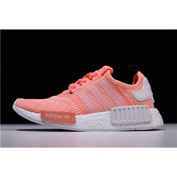 Women's Adidas NMD R1 Pink White Shoes