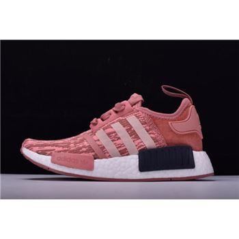 "Women's Adidas NMD R1 Primeknit ""Pink Black"" Raw Pink/Trace Pink-Legend Ink BY9648"