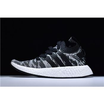 "Mens and WMNS Adidas NMD R2 Primeknit ""Harvest"" Core Black/White BY9409"