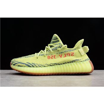 2018 Adidas Yeezy Boost 350 V2 Semi Frozen Yellow/Raw Steel/Red B37572