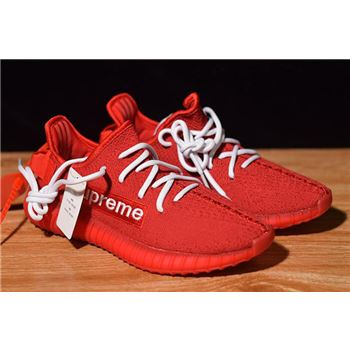 Supreme x Adidas Yeezy Boost 350 V2 Red/White F36923