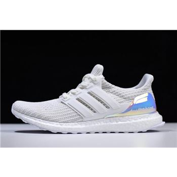 "Adidas Ultra Boost 4.0 ""Iridescent"" Triple White BY1756"